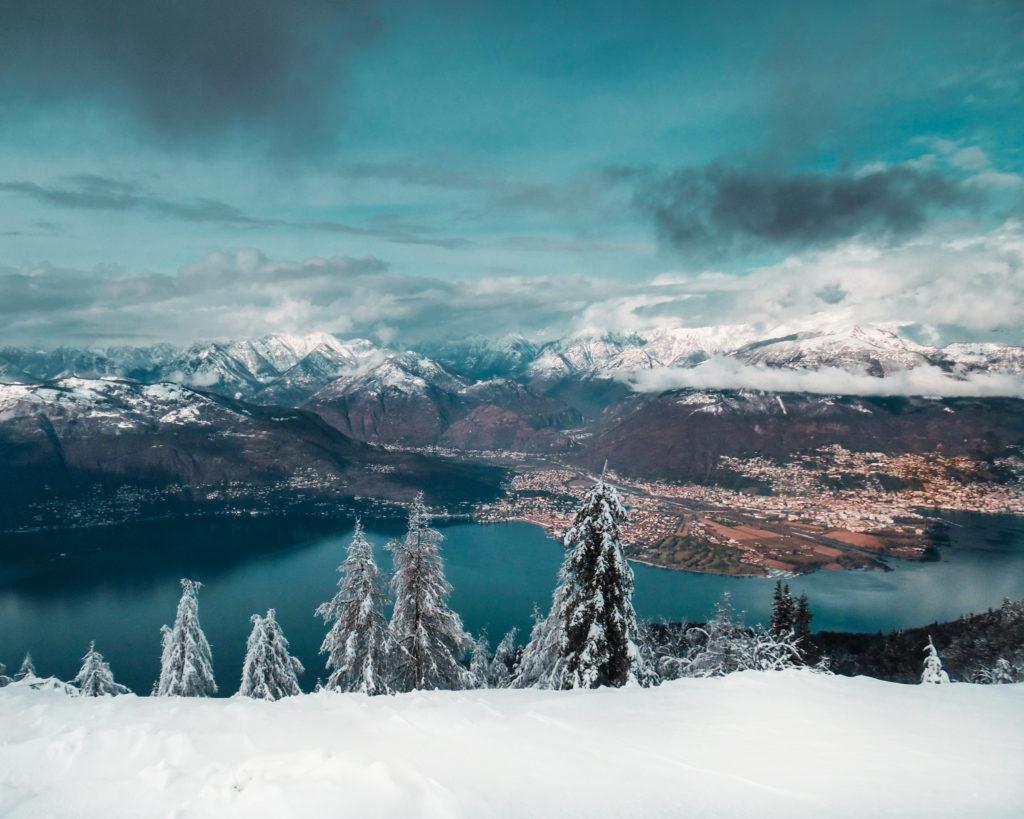 escursione invernale - lago maggiore